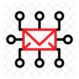 Mail Circuit Line Icon