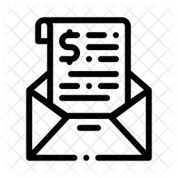 Mail Invoice Icon