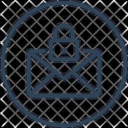 Mail Lock Line Icon