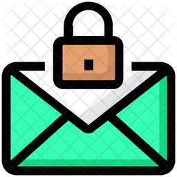 Mail Lock Colored Outline Icon