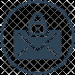 Mail Lock Glyph Icon