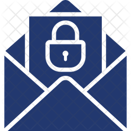 Mail Security Glyph Icon