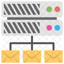 Mail Server Flat  Logo Icon