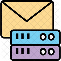 Mail Server Colored Outline Icon