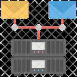 Mail Server Flat Icon