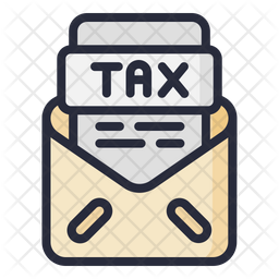 Mail Tax Document Colored Outline Icon