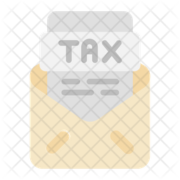 Mail Tax Document Flat Icon