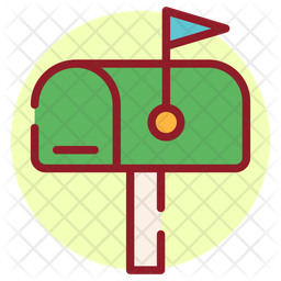 Mailbox Colored Outline Icon