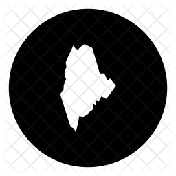 Maine Glyph Icon