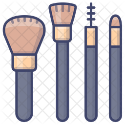 Makeup Brush Icon Of Colored Outline Style Available In Svg Png Eps Ai Icon Fonts