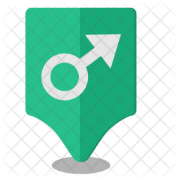 Male, Geo, Pointer, Location Icon