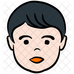 Male Kid Colored Outline Icon
