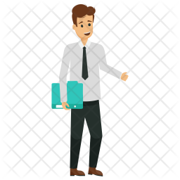 Male Office Worker Icon Of Flat Style Available In Svg Png Eps Ai Icon Fonts