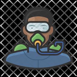 Male Scuba Diver Icon