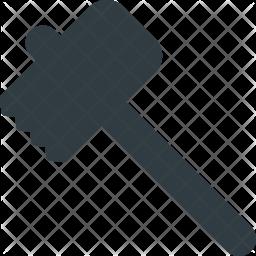 Mallet Glyph Icon