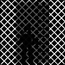 Man holding ladder Icon
