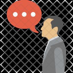 Man Speaking Icon
