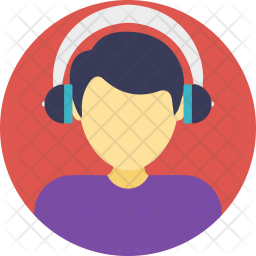 Man Wearing Headphones Icon