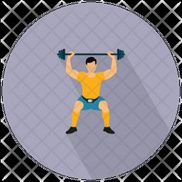 Man Weightlifter Icon