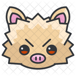 Mankey Colored Outline Icon