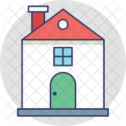 Mansion Colored Outline Icon