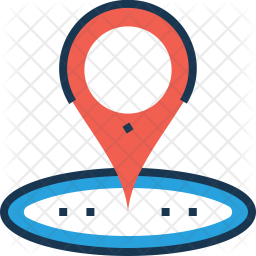 Map Colored Outline Icon