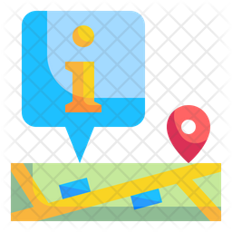 Map Information Flat Icon
