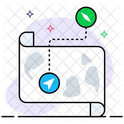 Map location Colored Outline Icon