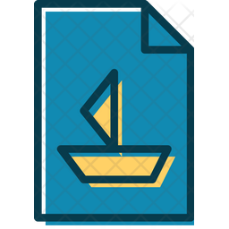 Marine Lessons File Colored Outline Icon