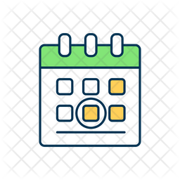 Marked date calendar Icon