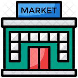 Market Icon Of Colored Outline Style Available In Svg Png Eps Ai Icon Fonts