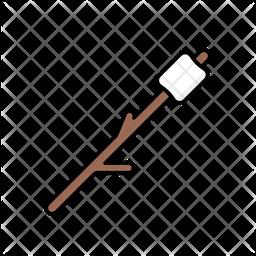 Marshmallow on stick Icon