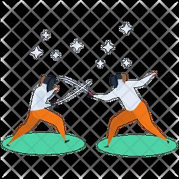 Martial Art Flat Icon