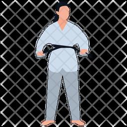 Martial Art Teacher Flat Icon