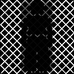 Martial art wear Glyph Icon