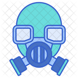 Mask Colored Outline Icon