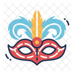 Mask With Feathers Icon