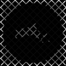 Massachusetts Glyph Icon