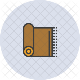 Mat Colored Outline Icon