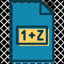 Math File Colored Outline Icon