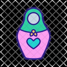 Matryoshka Doll Icon