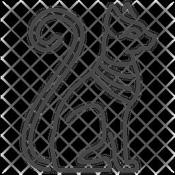 Mau Egyptian God Line Icon