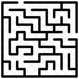 Maze Line Icon