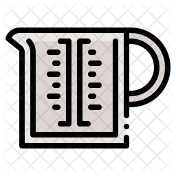 Measuring Cup Colored Outline Icon