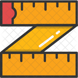 Measuring Tape Colored Outline Icon