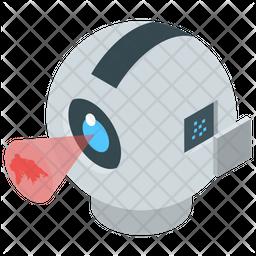 Mechanical Robot Eye Icon