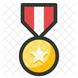 Medal Colored Outline Icon
