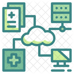Medical Cloud Server Icon