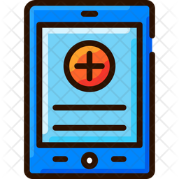 Medical Data Colored Outline Icon
