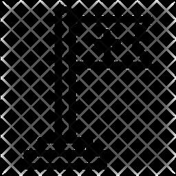 Medical Flag Line Icon